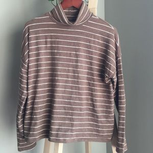 Madewell striped turtleneck